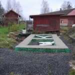 Das fertig gegossene Fundament