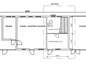 Sauna Pohjapiirros 20.3.2015